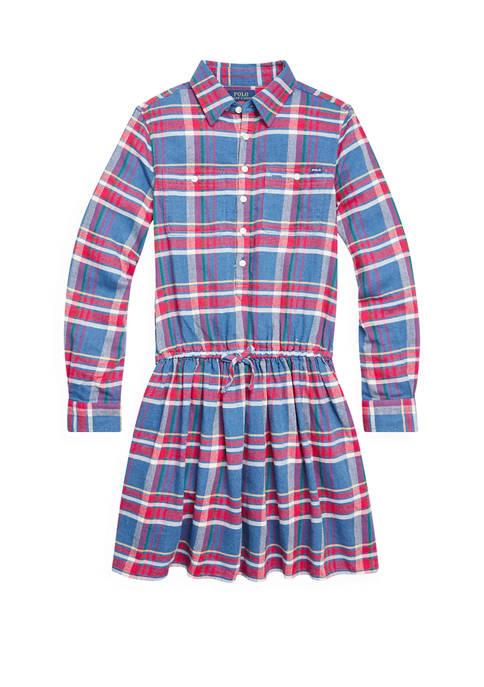 Ralph Lauren Childrenswear Girls 7-16 Plaid Cotton Twill