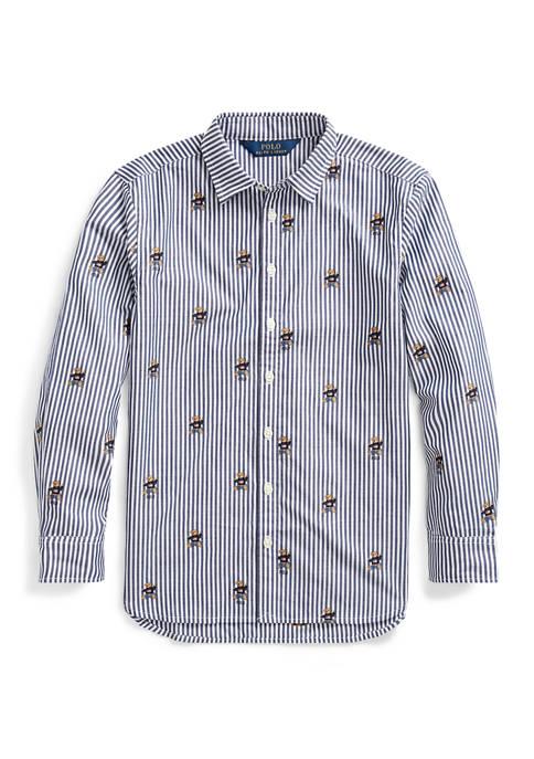 Girls 7-16 Sweater Bear Cotton Shirt