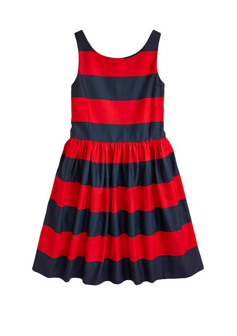 Ralph Lauren Childrenswear Girls 7-16 Stripe Fit and