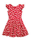 Girls 7-16 Floral Belted Woven Dress