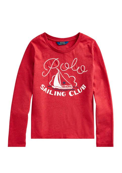Ralph Lauren Childrenswear Girls 7-16 Sailing Club Cotton