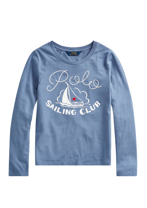 Ralph Lauren Childrenswear Girls 7-16 Sailing Club Cotton
