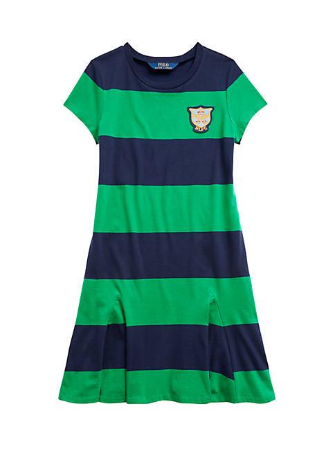 Ralph Lauren Childrenswear Girls 7-16 Striped Cotton Jersey