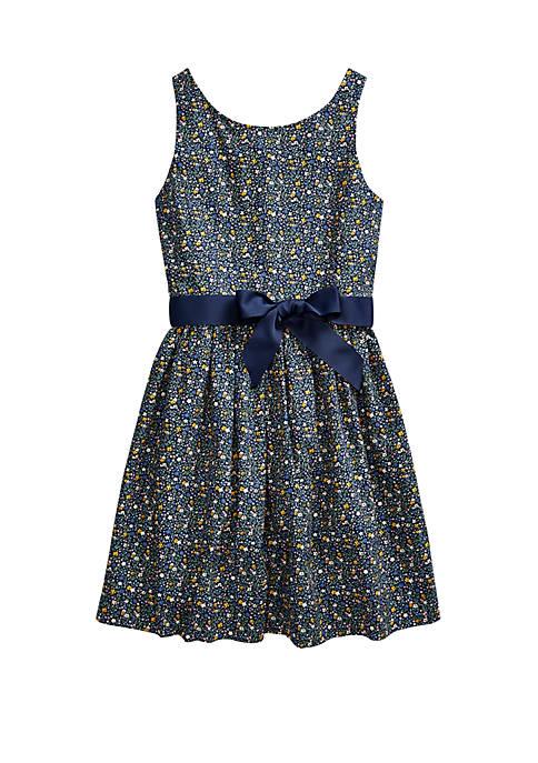 Ralph Lauren Childrenswear Girls 7-16 Floral Cotton Poplin