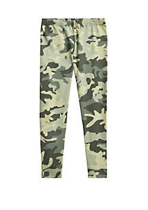 Ralph Lauren Childrenswear Girls 7-16 Camo Stretch Jersey Legging