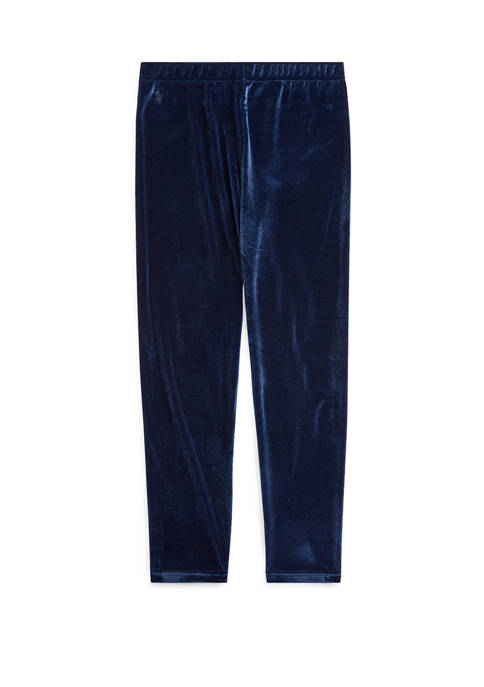 Ralph Lauren Childrenswear Girls 7-16 Stretch Velvet Leggings