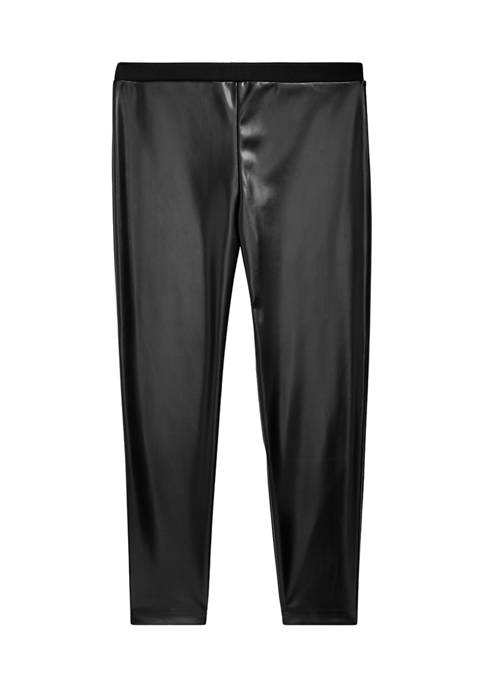 Ralph Lauren Childrenswear Girls 7-16 Vegan-Leather Legging