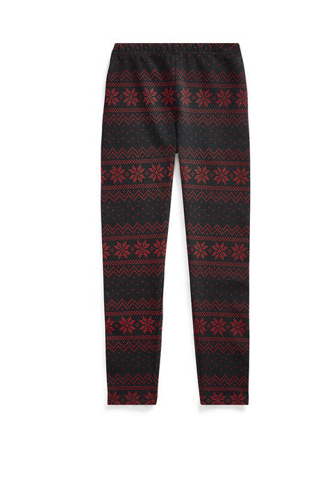 Girls 7-16 Fair Isle Jersey Leggings