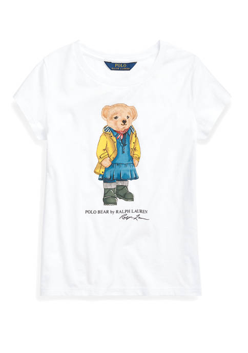 Ralph Lauren Childrenswear Girls 7-16 Raincoat Bear Cotton