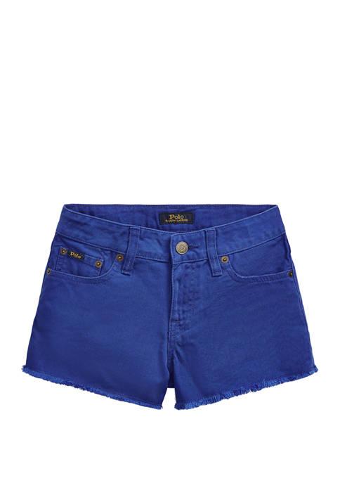 Ralph Lauren Childrenswear Girls 7-16 Polo Cotton Denim