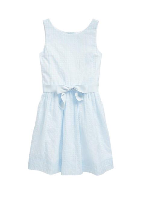 Ralph Lauren Childrenswear Girls 7-16 Windowpane Cotton Blend