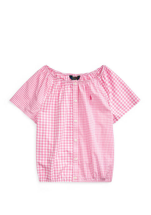 Ralph Lauren Childrenswear Girls 7-16 Mixed Gingham Cotton