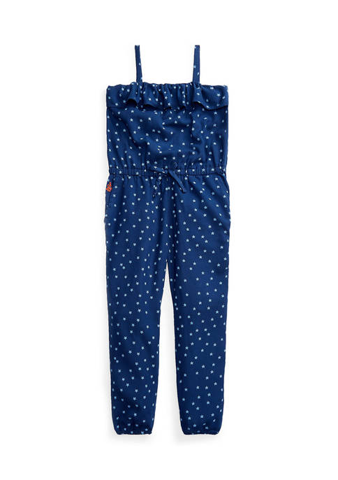 Girls 7-16 Star Print Cotton Romper