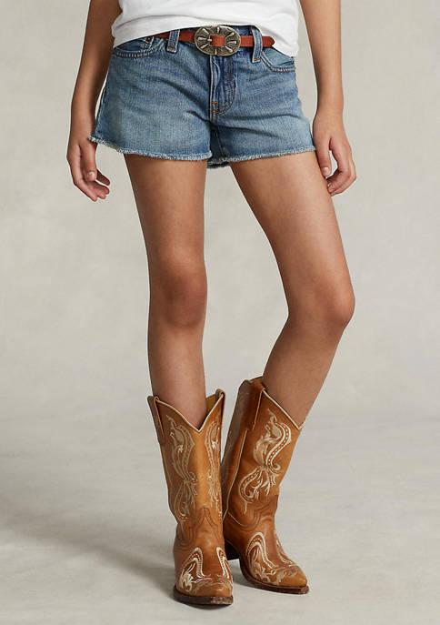 Ralph Lauren Childrenswear Girls 7-16 Frayed Cotton Denim