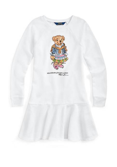 Ralph Lauren Childrenswear Girls 7-16 Madras Bear Terry