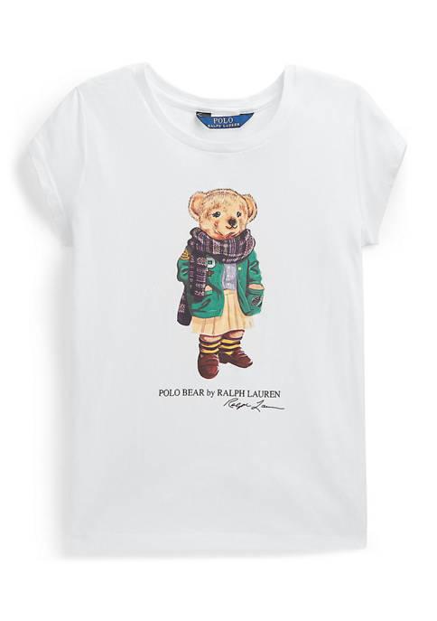 Ralph Lauren Childrenswear Girl 7-16 Cardigan Bear Jersey