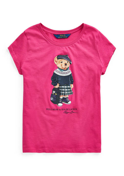 Ralph Lauren Childrenswear Girls 7-16 Backpack Bear Cotton