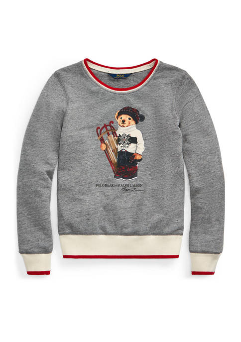 Girls 7-16 Sled Bear Atlantic Terry Sweatshirt