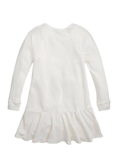 Girls 7-16 Tuxedo Bear French Terry Dress