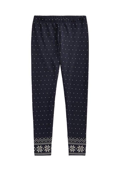 Girls 7-16 Printed Cotton Jersey Leggings