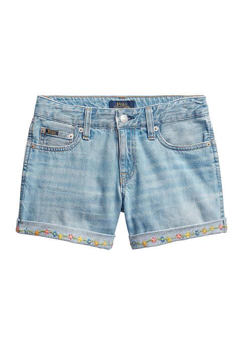 Ralph Lauren Childrenswear Girls 7-16 Floral Cotton Denim