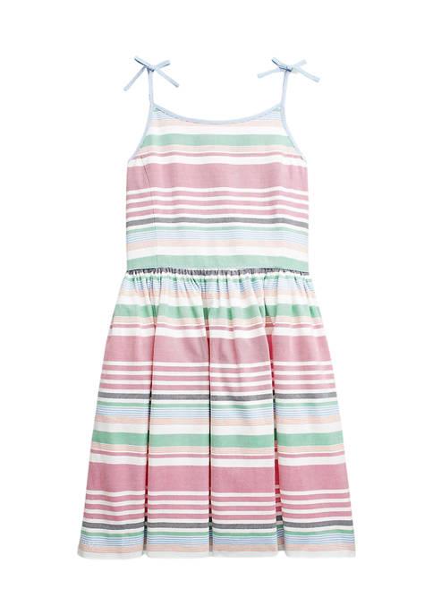 Ralph Lauren Childrenswear Girls 7-16 Striped Cotton Oxford
