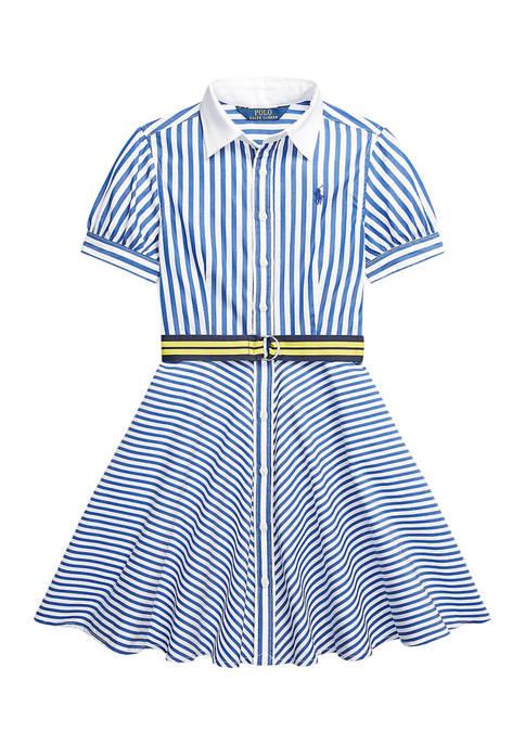 Ralph Lauren Childrenswear Girls 7-16 Striped Belted Cotton