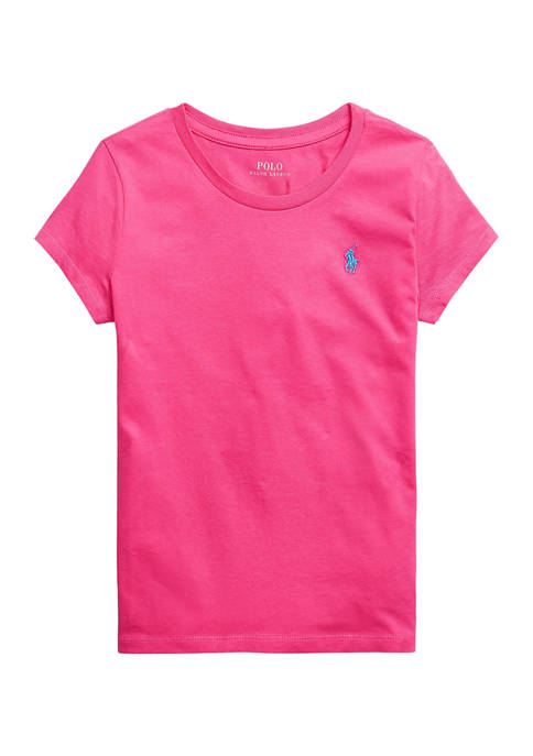 Ralph Lauren Childrenswear Girls 7-16 Cotton Jersey T-Shirt