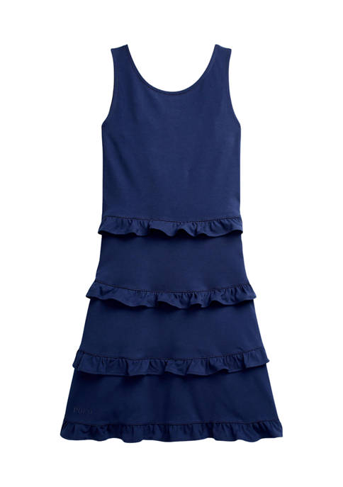 Ralph Lauren Childrenswear Girls 7-16 Ruffled Cotton Jersey