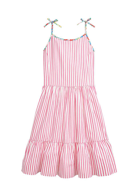 Ralph Lauren Childrenswear Girls 7-16 Striped Cotton Dress