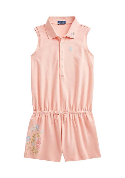 Ralph Lauren Childrenswear Girls 7-16 Floral Cotton Mesh