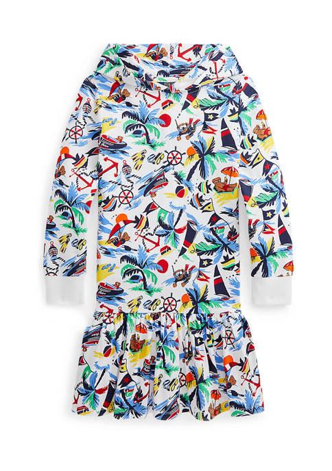 Ralph Lauren Childrenswear Girls 7-16 Polo Bear Hooded