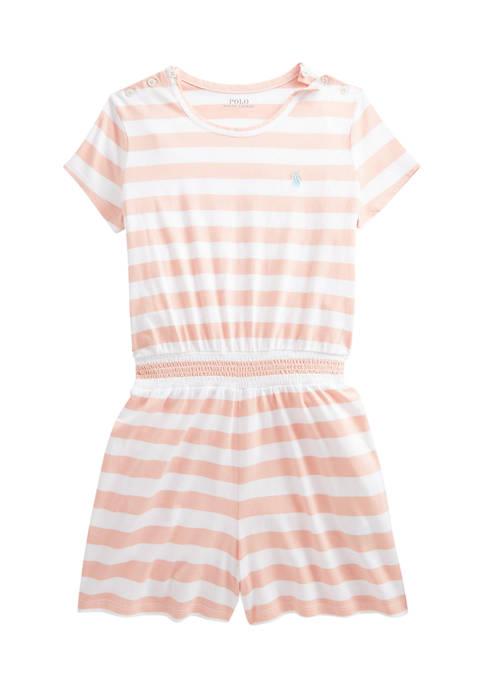 Girls 7-16 Striped Cotton Jersey Romper