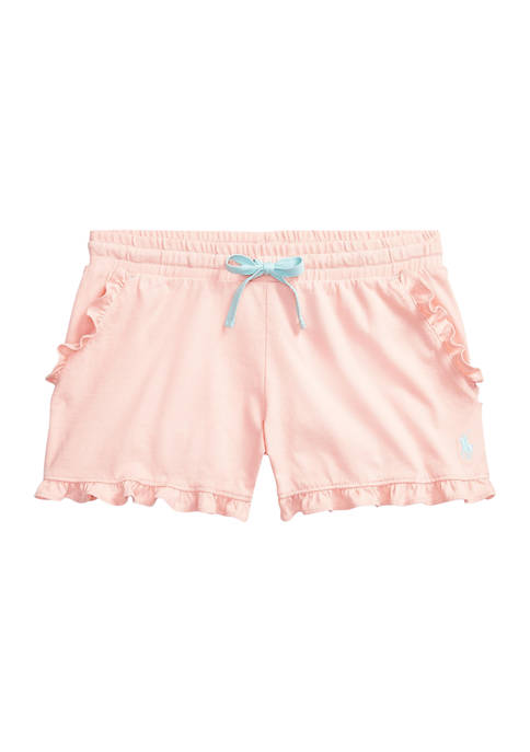 Girls 7-16 Ruffled Cotton Jersey Shorts