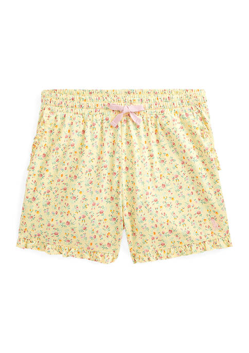 Girls 7-16 Floral Cotton Jersey Shorts