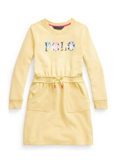 Ralph Lauren Childrenswear Girls 7-16 Floral Logo Fleece