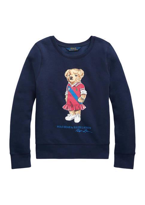 Girls 7-16 Polo Bear Fleece Sweatshirt