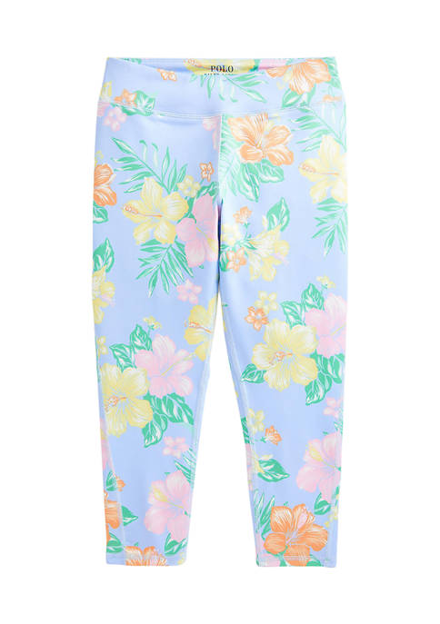 Girls 7-16 Floral Stretch Jersey Leggings