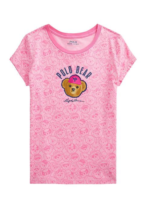 Ralph Lauren Childrenswear Girls 7-16 Polo Bear Cotton