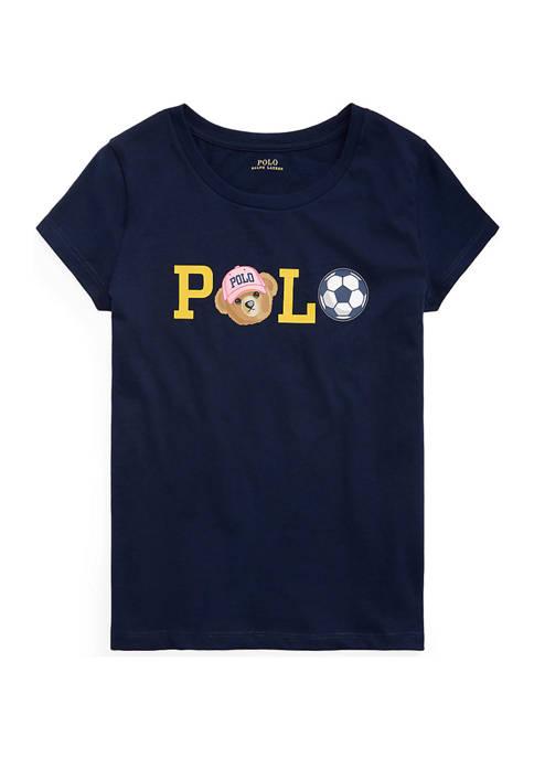 Ralph Lauren Childrenswear Girls 7-16 Polo Bear Logo