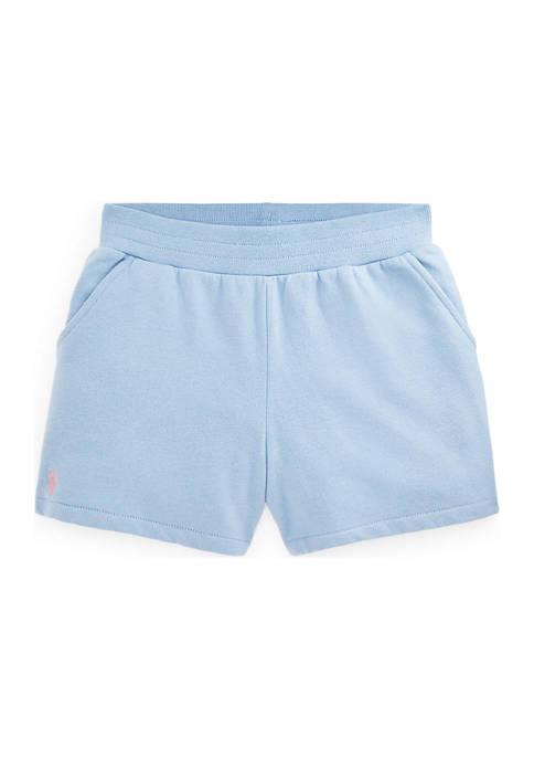 Ralph Lauren Childrenswear Girls 7-16 Cotton-Blend Fleece Shorts