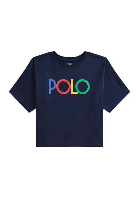 Ralph Lauren Childrenswear Girls 7-16 Logo Cotton Jersey