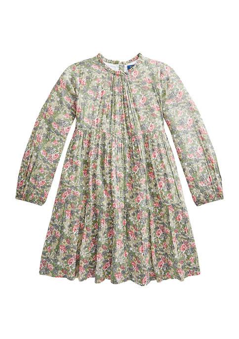 Ralph Lauren Childrenswear Girls 7-16 Floral Tiered Crinkle