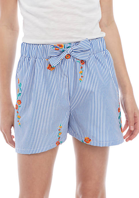Crown & Ivy™ Stripe Woven Soft Shorts Girls