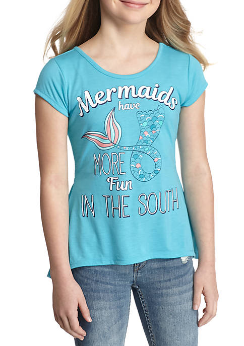 Wholesale Beautees Mermaid Graphic Tee Girls 7-16 supplier