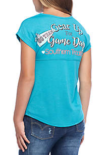 Girls 7-16 Short Sleeve Sweeper Gear Up Gameday Tee