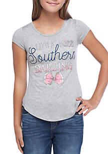 Girls 7-16 Southern Darling Shirttail Tee