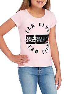 Girls 7-16 Mermaid Fan Club Sequin Tee