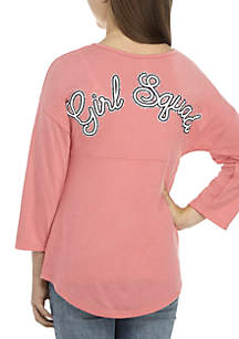 Girls 7-16 Long Sleeve Rose Girl Squad Sweeper