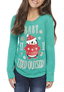 Girls 7-16 Baby Its Cold Outside Tee